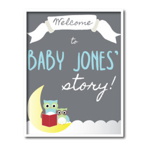 Storybook Baby Shower Welcome Sign