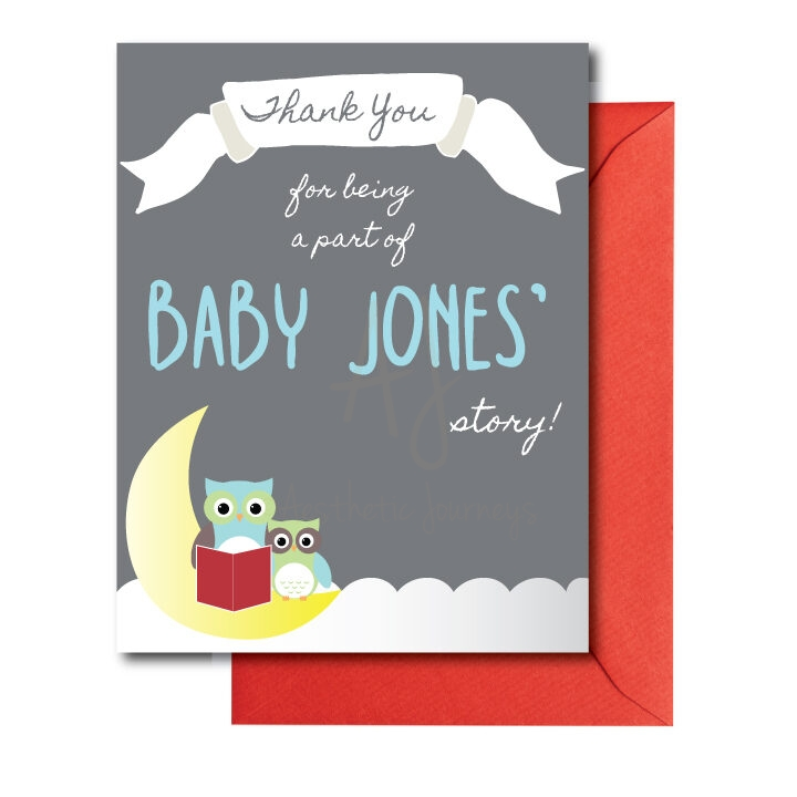 Storybook Baby Shower Thank You Card