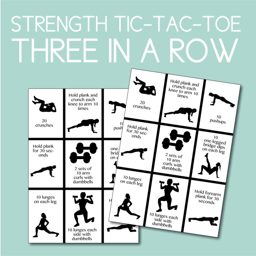 Strength Tic Tac Toe Game