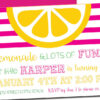 Sunshine Themed Party Invitation with Envelopes   Printed Birthday Invites and Color Envelopes   Custom Colors Available