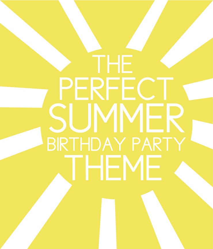 Sunshine themed birthday party
