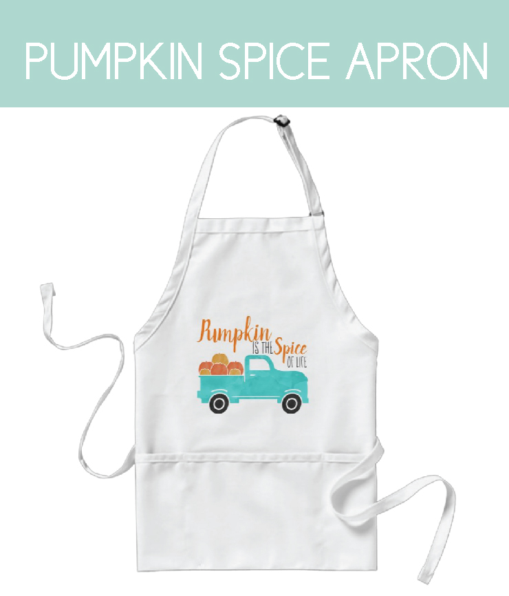apron for thanksgiving with pumpkin is the spice of life