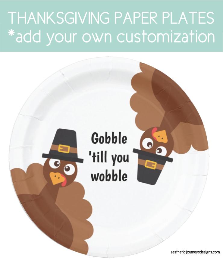 paper plates for thanksgiving dinner
