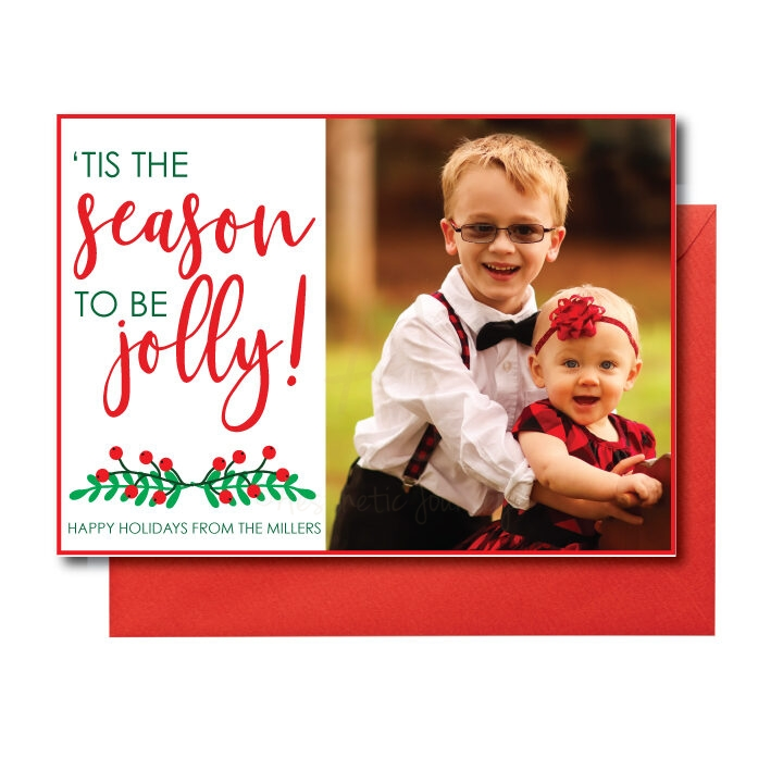 photo card with tis the season quote