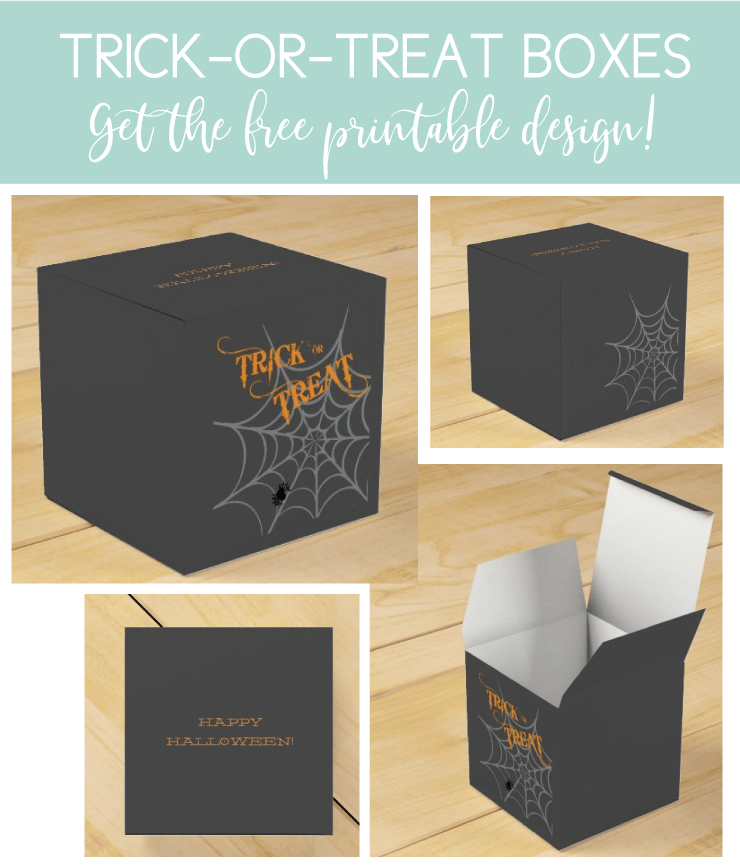 favor boxes with trick or treat printable