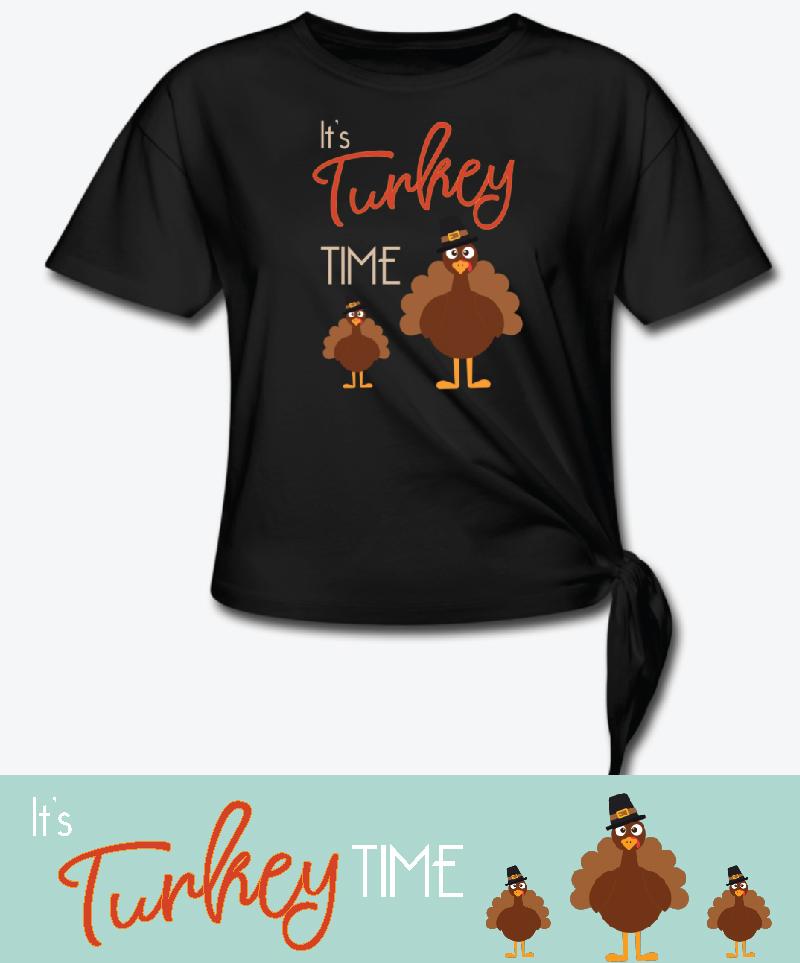 it's turkey time t-shirt
