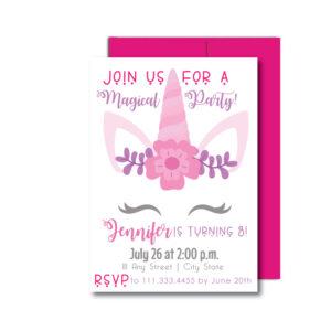 Unicorn Party Invite