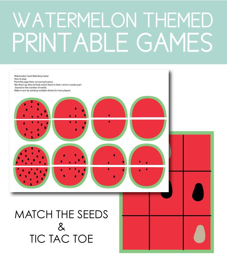 watermelon printable games