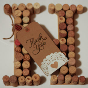 Wine Cork Letter | Unique Gift for the Wine Lover | Tag with Custom Message Included