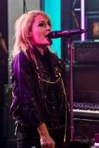 Emily Haines of Metric at Much Music in Toronto. (Photo: Adam Harrison)
