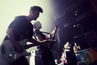 Menno Versteeg (left) and Dean Baxter (right) of Hollerado. (Photo: Adam Harrison/Aesthetic Magazine Toronto)