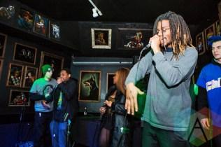 Bagel Jesus with Dead Trash Mod Records Crew. (Photo: Lauren Garbutt/Aesthetic Magazine Toronto)