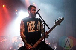 Cancer Bats performing at The Danforth Music Hall in Toronto on December 20, 2015 during the Stay Warm Festival. (Photo: Theo Rallis/Aesthetic Magazine)