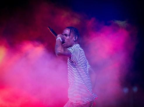 Travis Scott performs at the Coachella Music Festival in Indio, California on April 14, 2017. (Photo: Brian Willette)