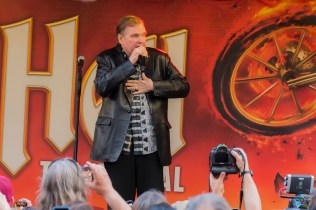 Meat Loaf performs at Yonge-Dundas Square in Toronto on May 15, 2017 to officially launch his hit musical, Bat Out of Hell, in North America. (Photo: Angelo Marchini/Aesthetic Magazine)