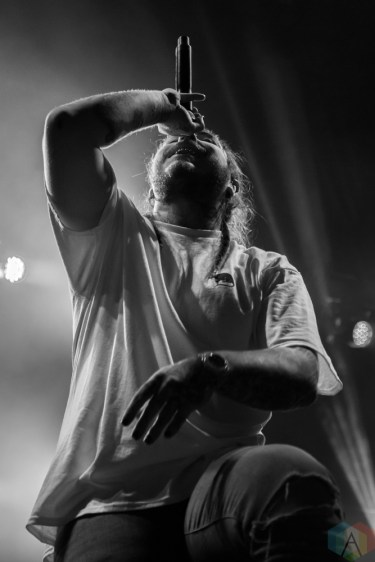 Post Malone performs at the Port Lands in Toronto on June 23, 2017 during NXNE. (Photo: Sarah McNeil/Aesthetic Magazine)