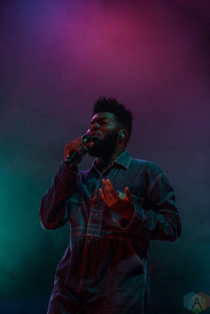 Khalid performs at PNE Forum in Vancouver on July 13, 2017. (Photo: Quinn Middleton/Aesthetic Magazine)