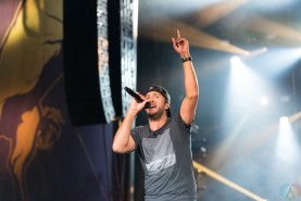 Luke Bryan performs at the Faster Horses Music Festival in Michigan on July 23, 2017. (Photo: Jennifer Boris/Aesthetic Magazine)