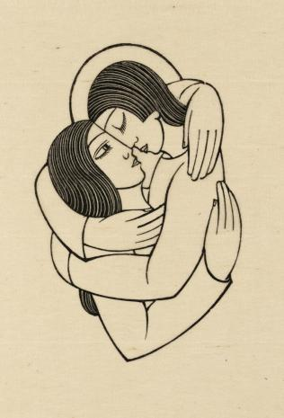 The Soul and the Bridegroom 1927 Eric Gill 1882-1940 Transferred from the Library 1979 http://www.tate.org.uk/art/work/P08142