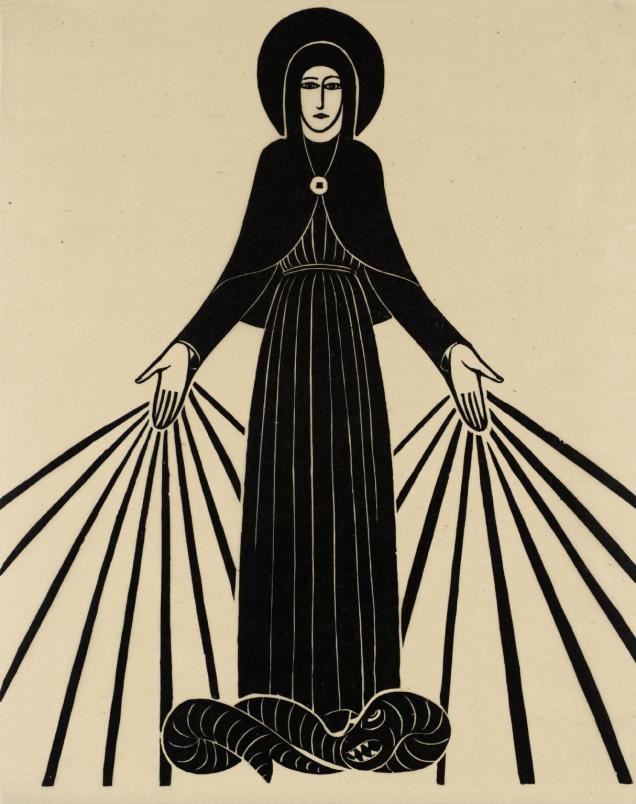 Our Lady of Lourdes 1920 Eric Gill 1882-1940 Transferred from the Library 1979 http://www.tate.org.uk/art/work/P08080