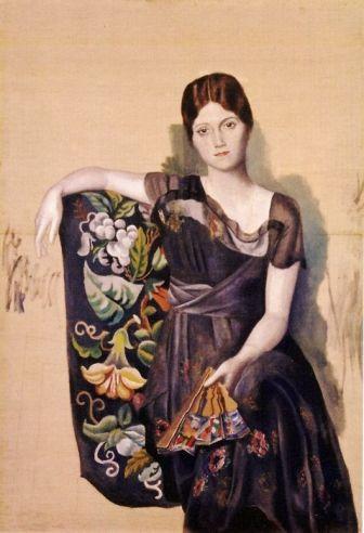 pablo-picasso-1917-18-portrait-dolga-dans-un-fauteuil