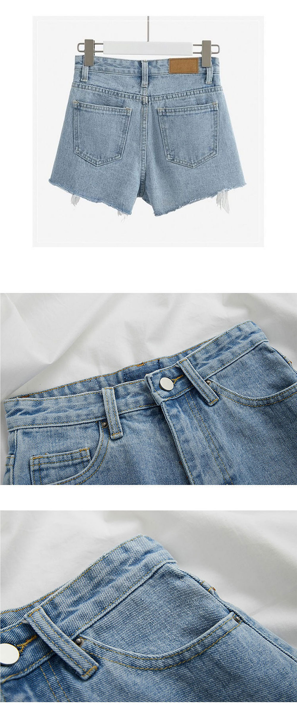 Ripped Denim Shorts Jean Shorts