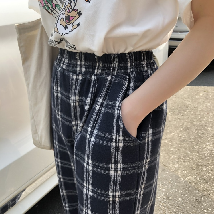 Yellow Plaid Vintage Pant