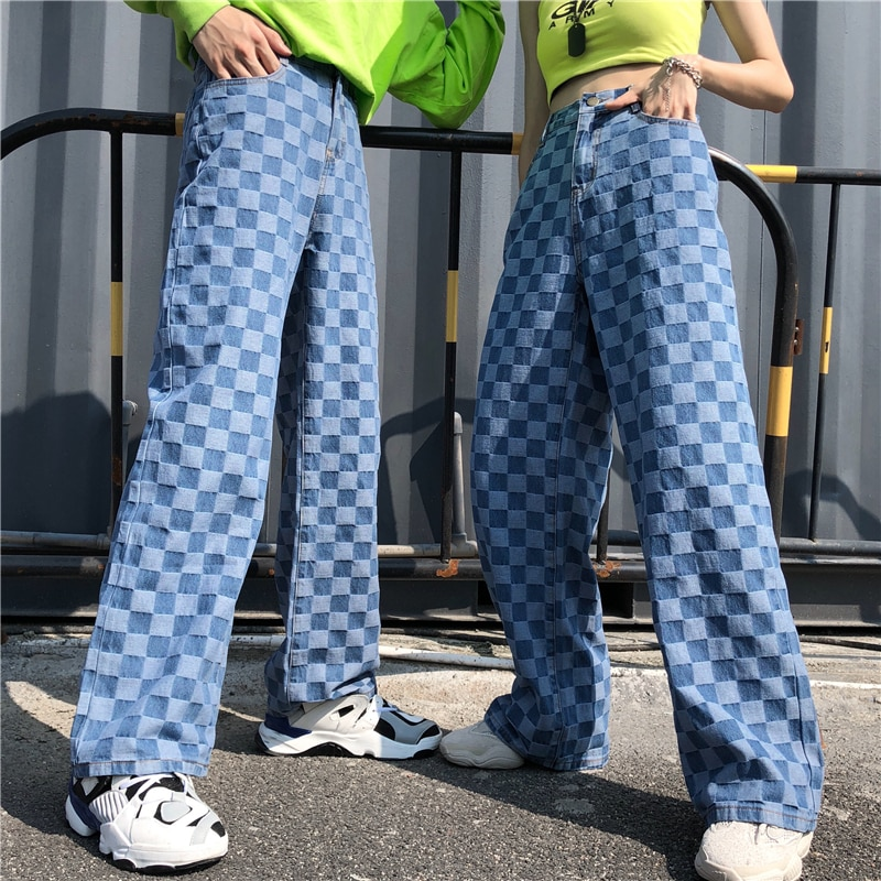 New Big Size Trousers Plaid