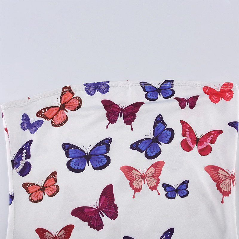 Butterfly Strapless Mini Dres