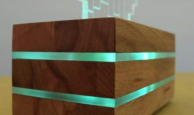 Luminária colorida LED