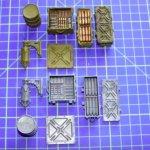 Pequenas peças plásticas moldadas em silicone