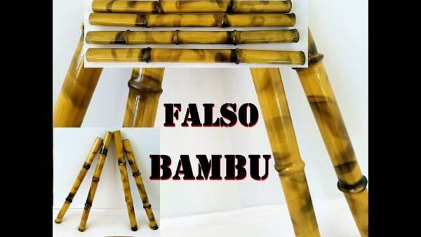 Bambu falso de PVC