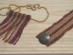 bracelete e colar de miçangas 016