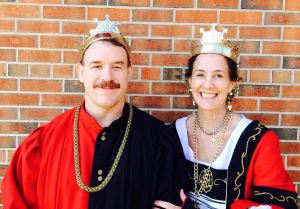Their Majesties, Timothy and Gabrielle. Photo courtesy of Her Majesty.