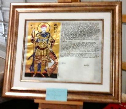 County scroll for HRH Magnus Tindal by THLady Ismay Ponde. Photo by Master Fridrikr.