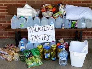 Food collected at Blackstone Raids.