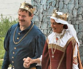 King Timothy and Queen Gabrielle. Photo by Christina Mary Lowe, called Jinx.