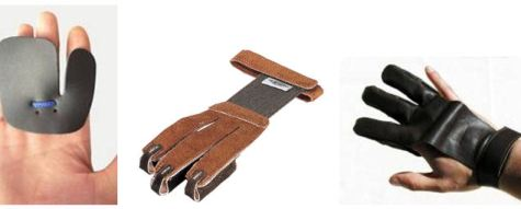 archery Finger tabs and gloves