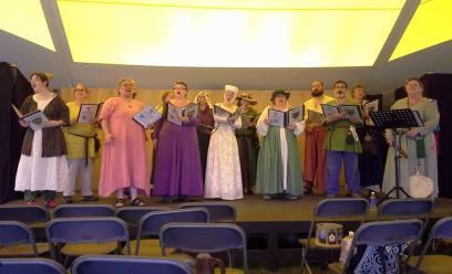 The Debatable Choir performing the European Music Expo on Saturday.