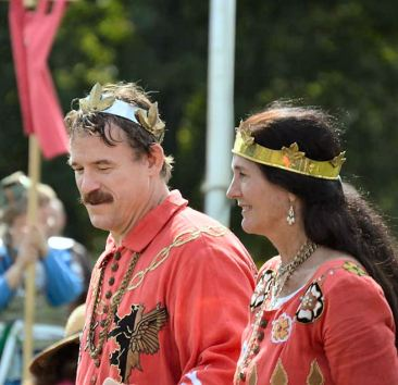 Timothy and Gabrielle reaffirmed as Duke and Duchess. Photo by Maestro Filipo.