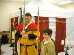 Master Fillipo and Phillip guarding the vigil.
