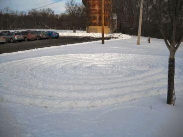 Snow labyrinth