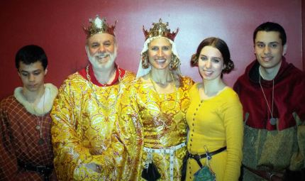 The Royal Family: Ian Ætheling, King Byron, Queen Ariella, Princess Leah, and Joshua Ætheling. Photo by Duchess Siobhán.