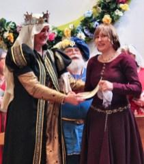Lady Aurelie receives her AoA. Photo by Jinx.