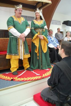 Lord Borivoj receives his AoA.