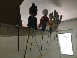 puppets on the stage and scenery in the tool clips.