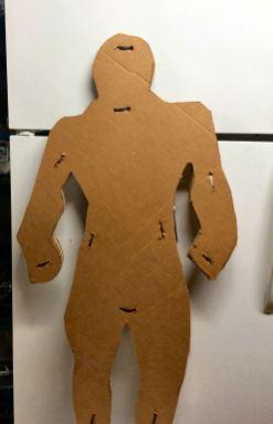 cardboard cutout and ziptied