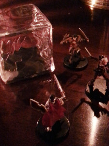 Fighting the deadly gelatinous cube.