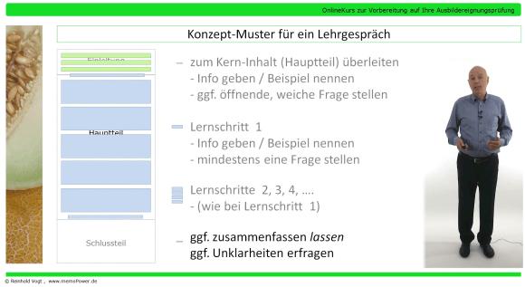 Screenshot aus meinem AEVO-OnlineKurs: Video zum Lehrgespräch