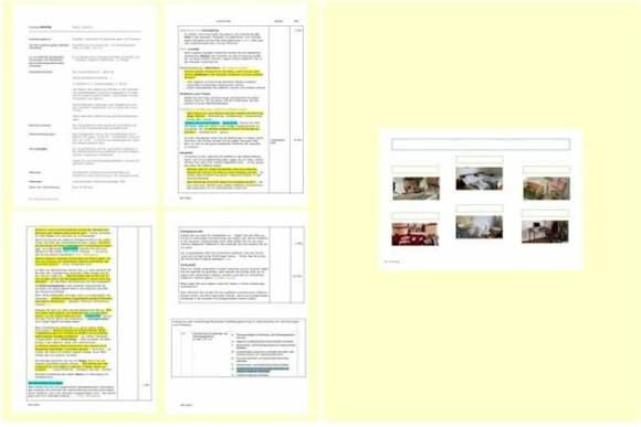 vierseitige Unterlage: Muster eines Unterweisungsentwurfs